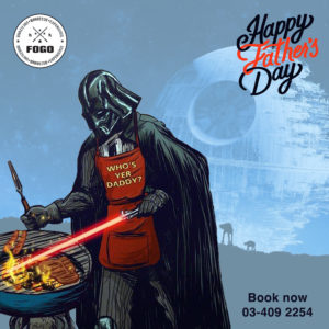 image of Darth Vadder making a barbecue with the Death Star in the back