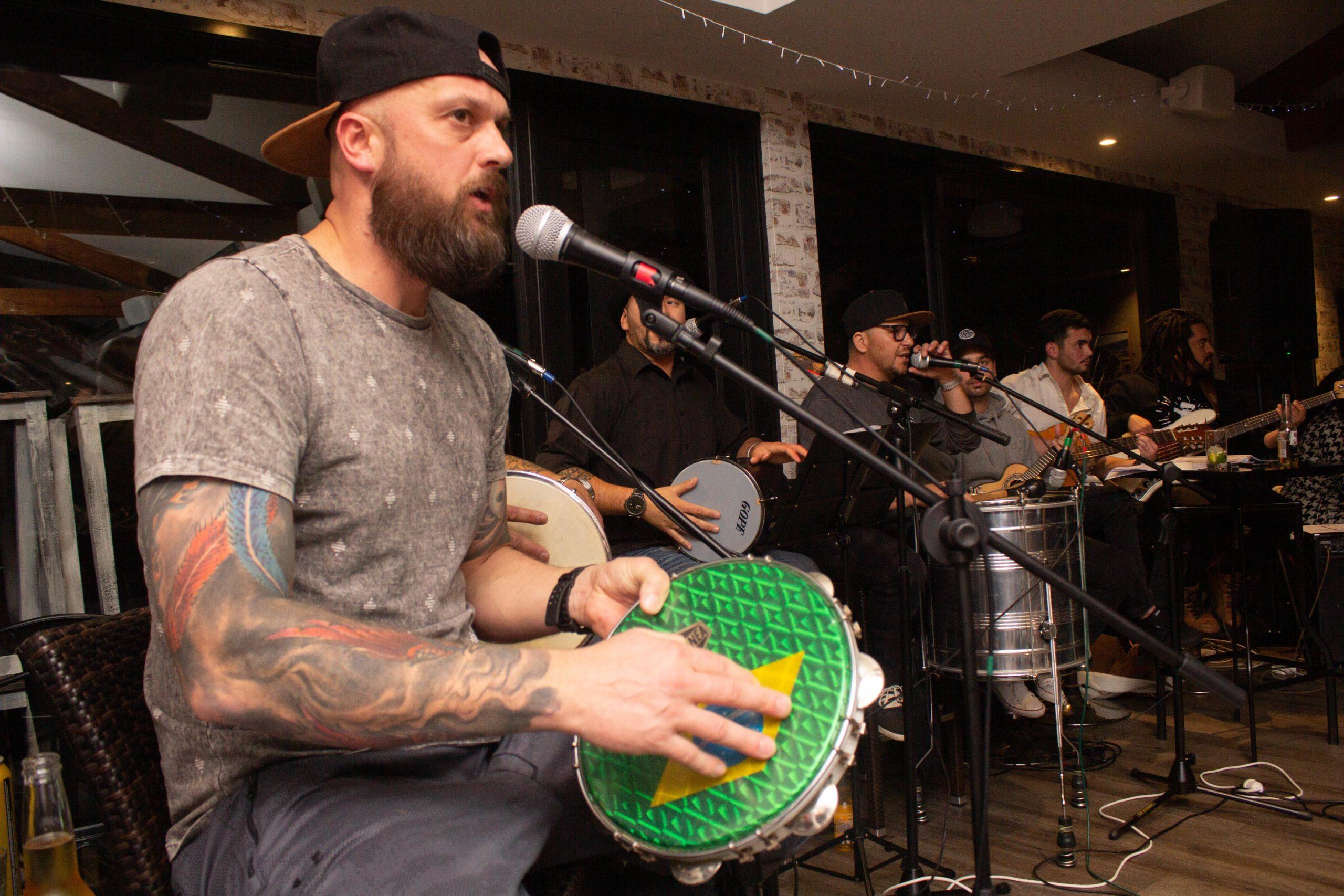 Guy playing Pandeiro