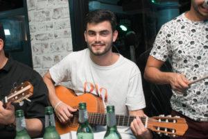 Felipe playing the guitar